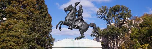 Jackson statue lafayette